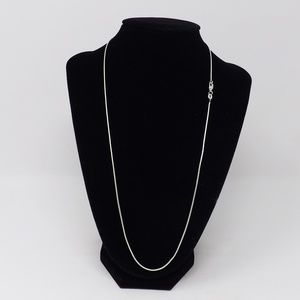 "22.5"" Silver Necklace Chain w/ Lobster Claw"